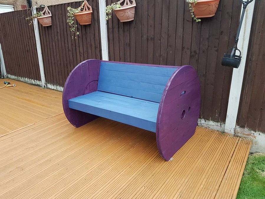 Pallet Plus Cable Reel Garden Bench