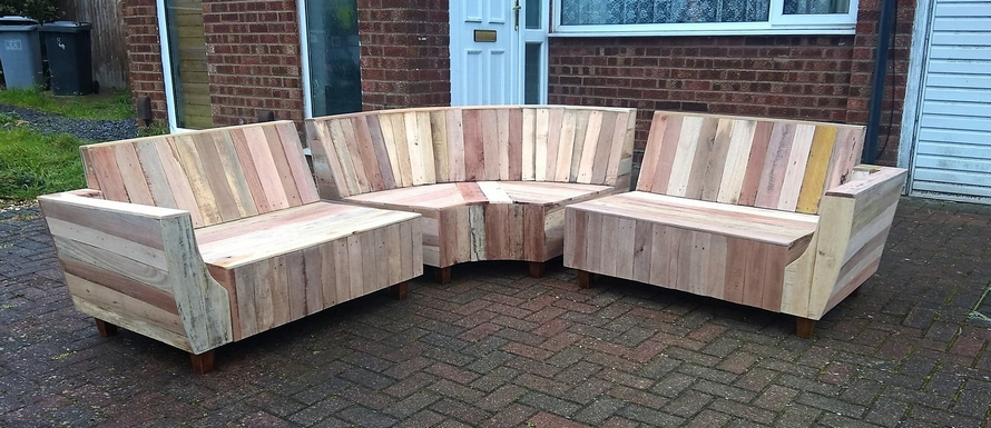 Outdoor Couch Set Made with Pallets