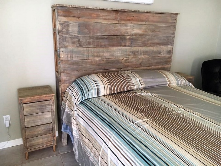 Wood Pallet Powered Bedroom Wood Pallet Furniture