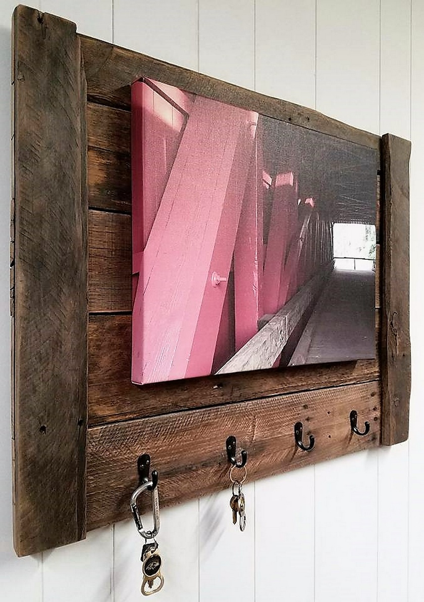 Rustic Pallets Key / Coat Rack