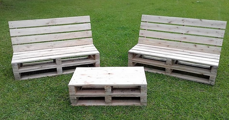pallet furniture projects. Low Cost DIY Pallet Wood Creations Furniture Projects D