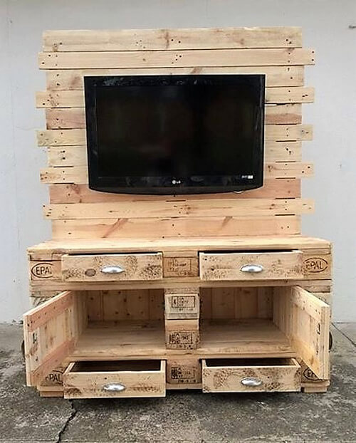Wooden Pallets Made TV Console