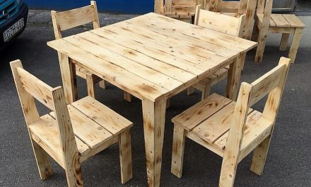 Pallets Furniture. Simple Furniture Set Made With Pallets W.