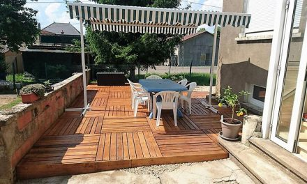 DIY Wooden Pallets Garden Terrace