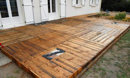 DIY Step by Step Wood Pallets Garden Terrace