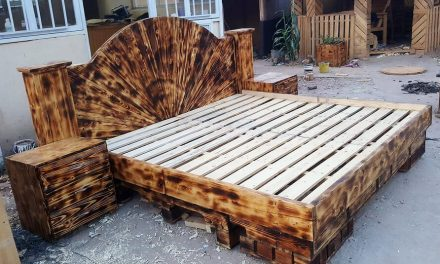 Repurposed Wooden Pallets Giant Beds