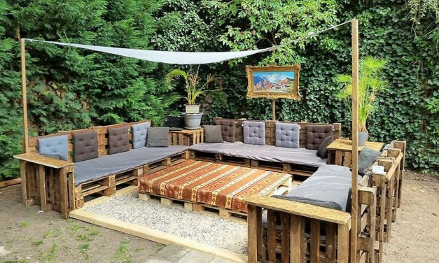 DIY Wooden Pallets Patio Furniture Terrace