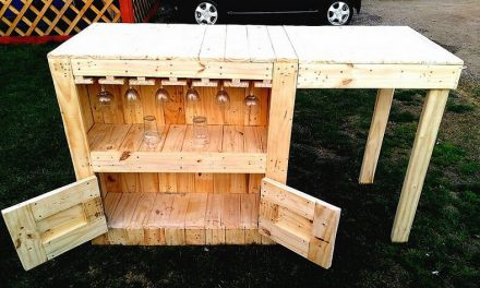DIY Wood Pallets Garden Bar Step by Step Plan