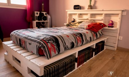 Giant Pallet Bed With Storage Options