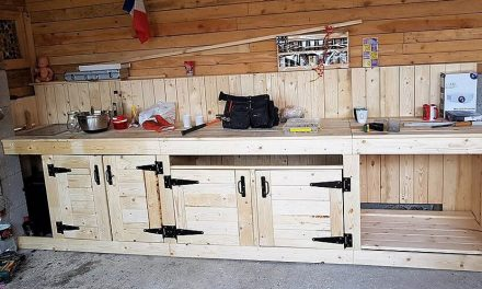DIY Repurposed Pallets Wooden Kitchen Plan