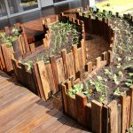 Raised Garden Made By Using Used Pallet Wood