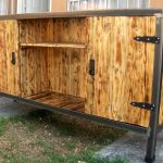 Reclaimed Wood Pallets Plus Steel TV Stand Plan