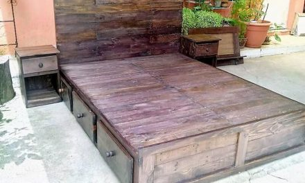 Reused Wood Pallets Giant Bed Plan