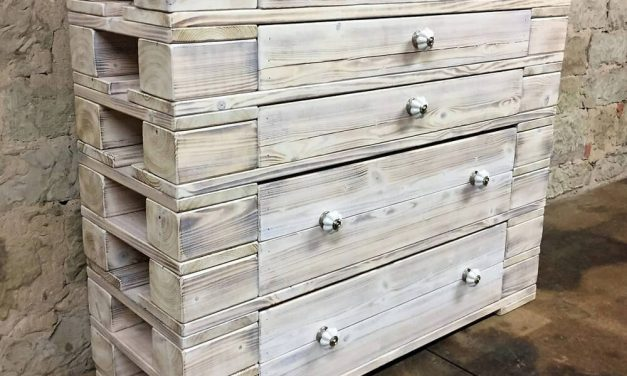 Recycled Wood Pallets Dresser Table Plan