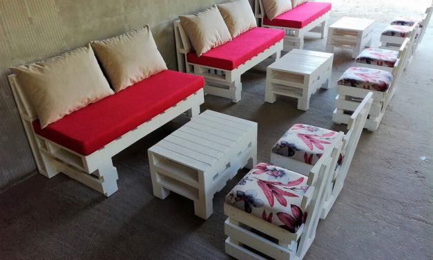 Creative Idea of Pallet Wooden Furniture Set