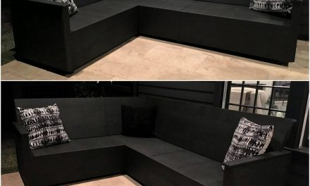 Wood Pallet Made L-Shape Sofa Plan