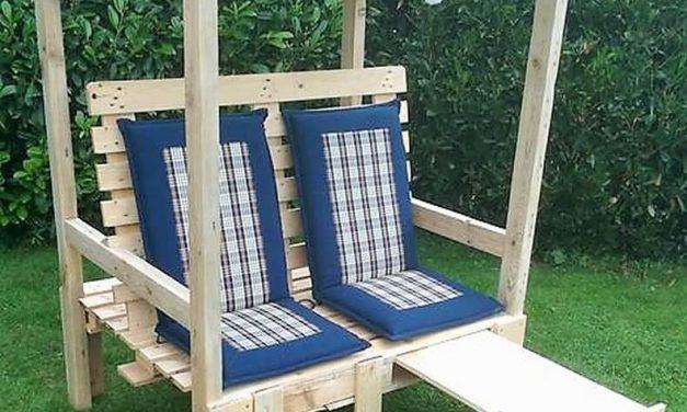 Wooden Pallet Garden Strandkorb Chair Plan