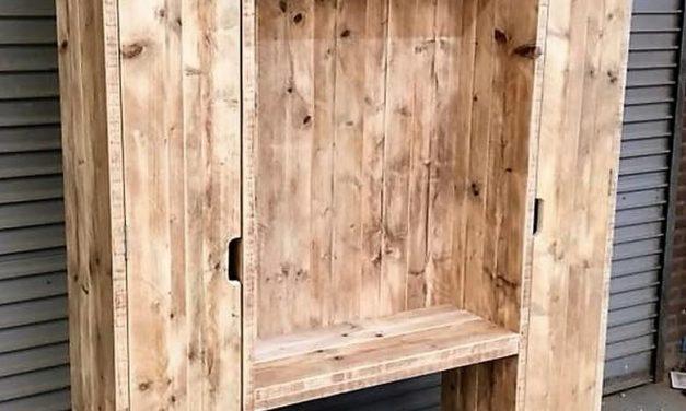 Wood Pallets Repurposed Closet Plan