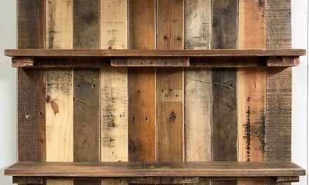Repurposed Wood Pallet Rustic Shelf Plan