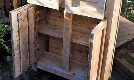 Recycled Pallet Wooden Bathroom Closet Plan