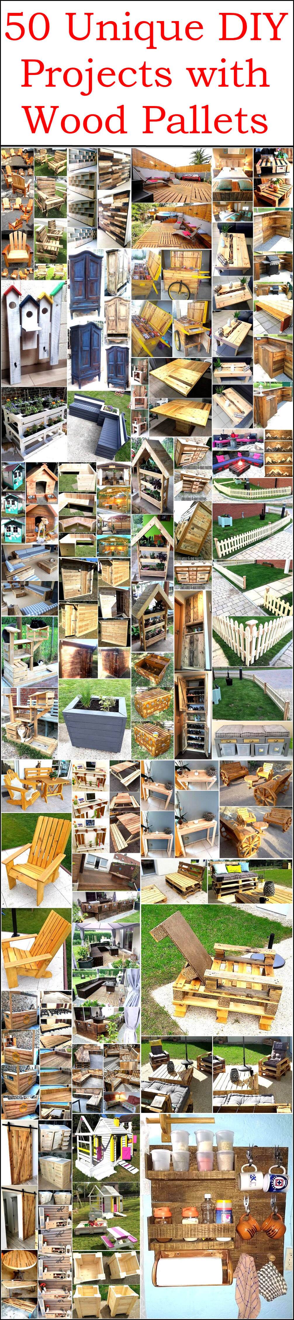 50 Unique DIY Projects with Wood Pallets
