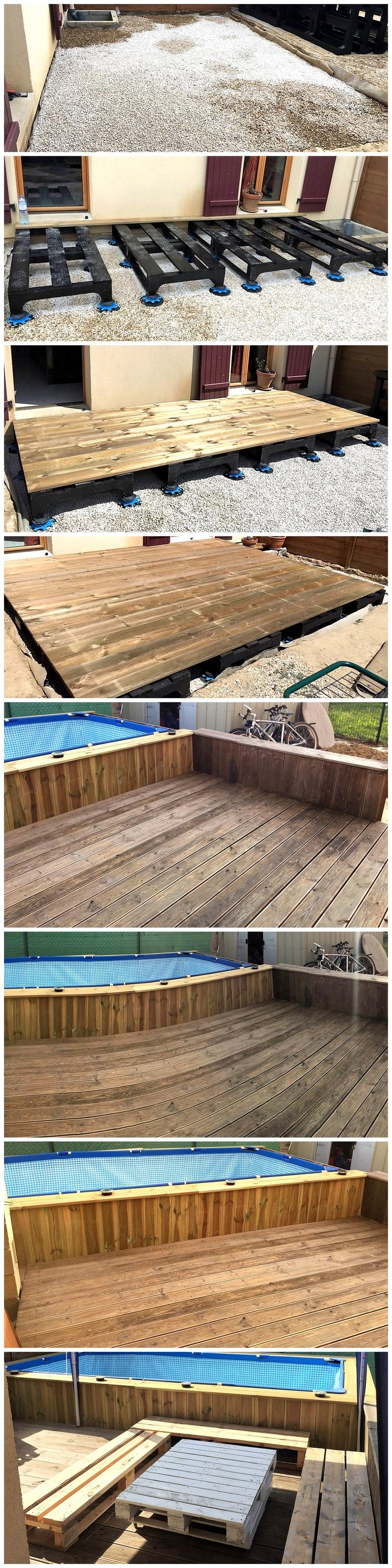 DIY Wood Pallet Pool Deck Plan