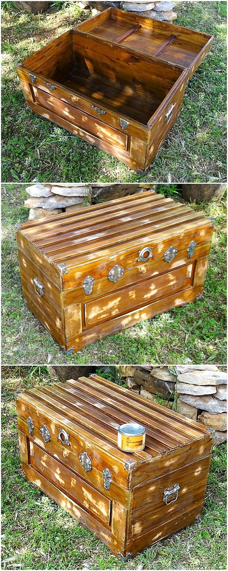 chest made with old pallets