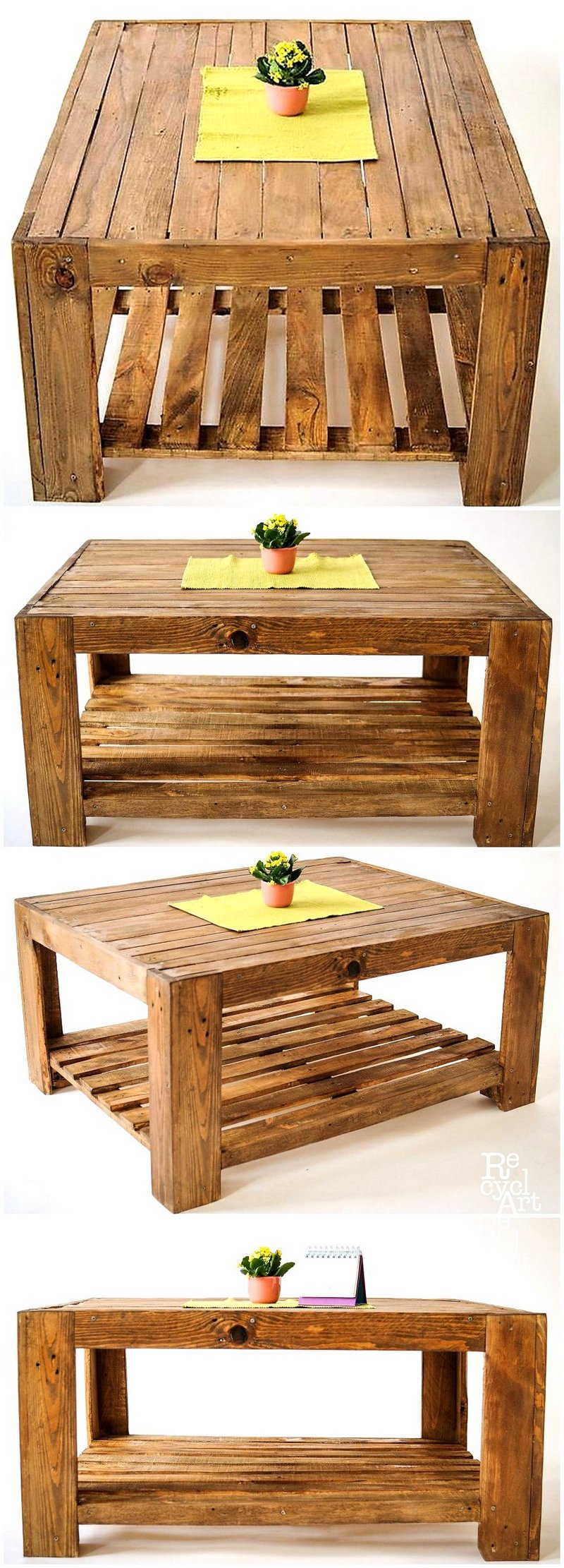 coffee table made with pallets wood