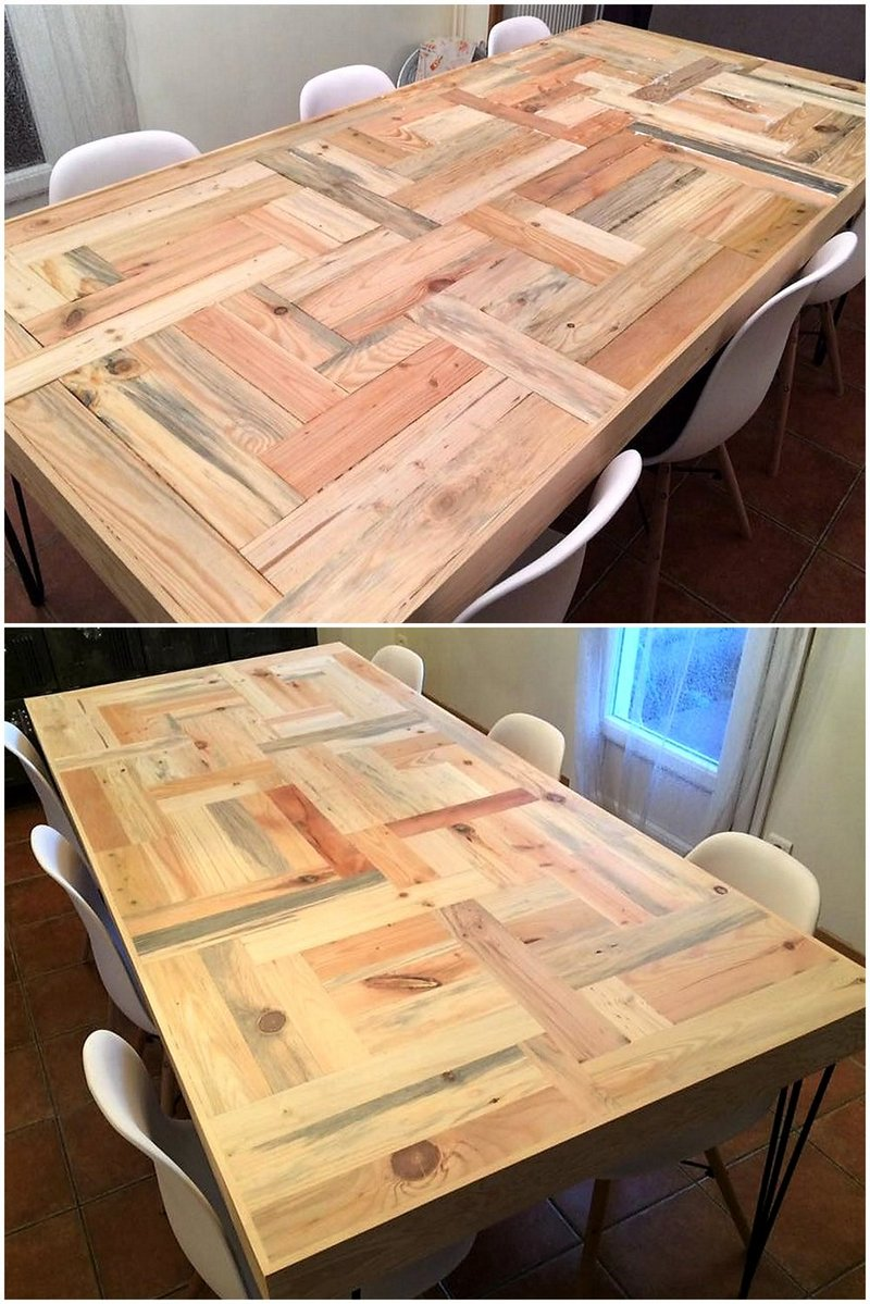 dining table made with pallets wood