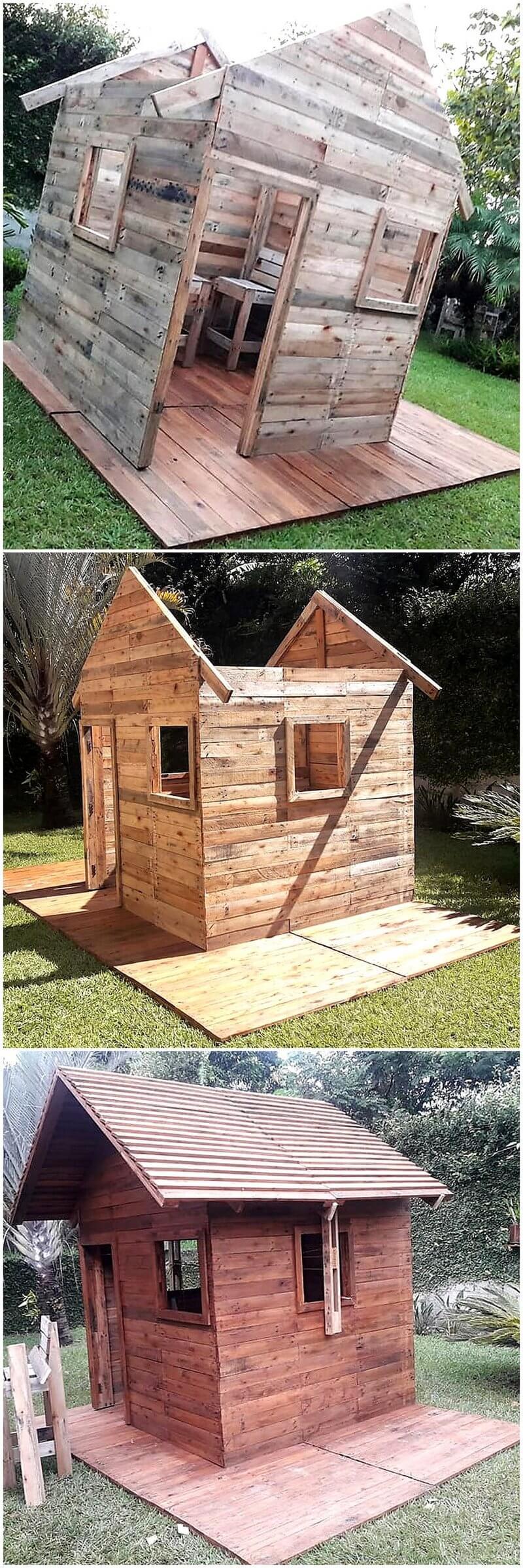 diy pallet garden shed plan