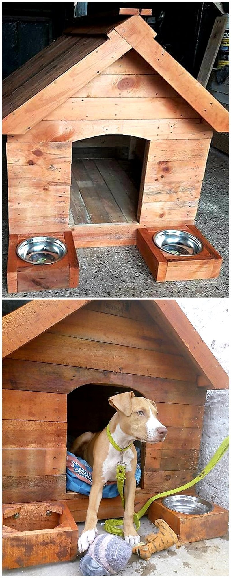 dog house made with wood pallets