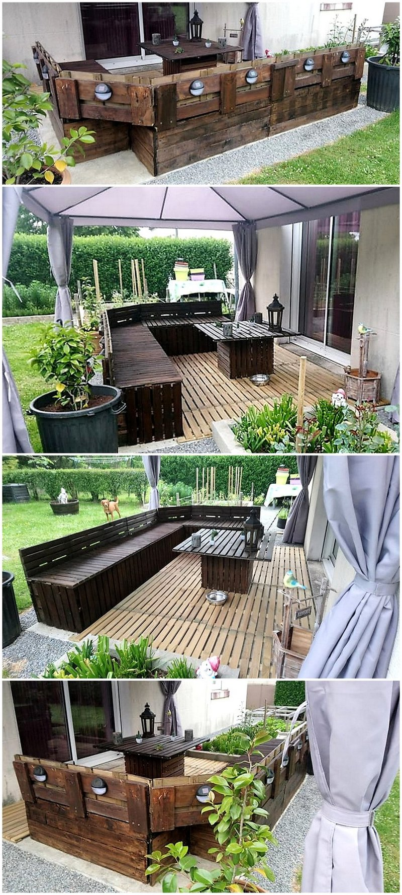 garden lounge out of wood pallets