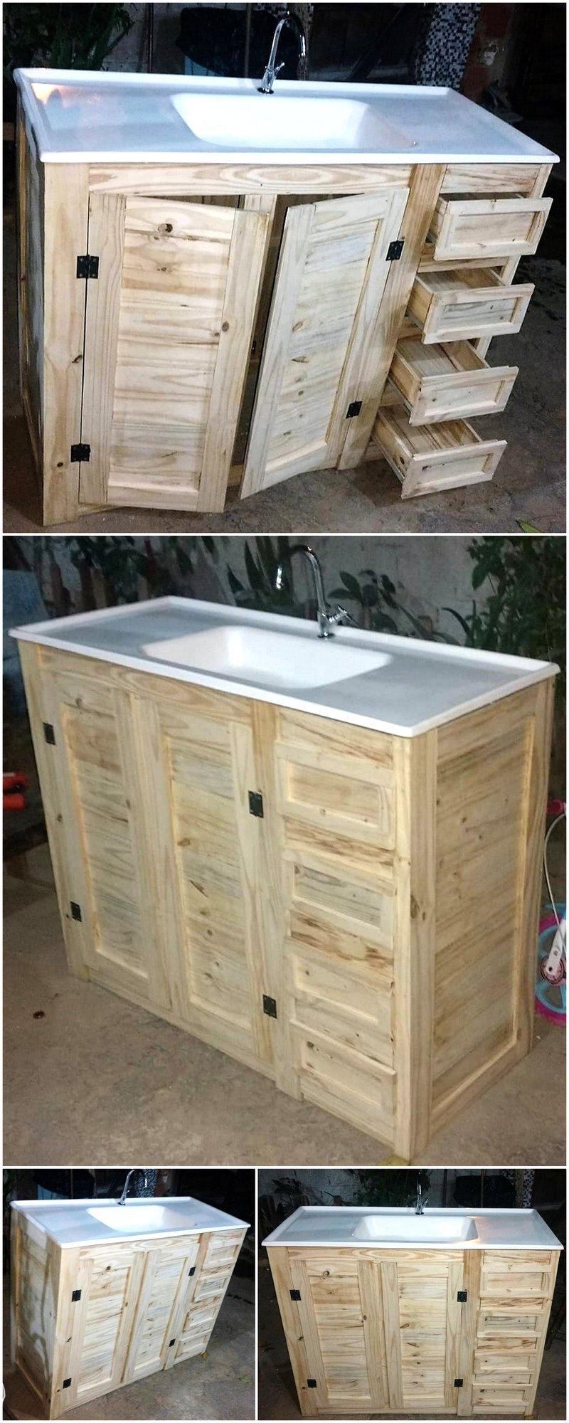 pallet basin cabinet