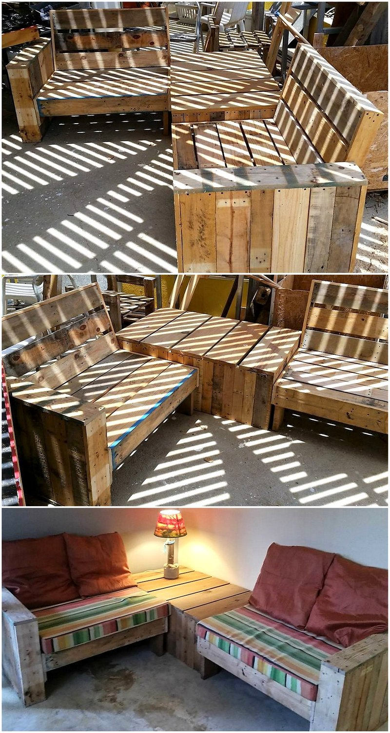 pallet corner furniture idea