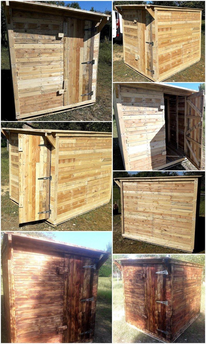 pallet garden cabin idea