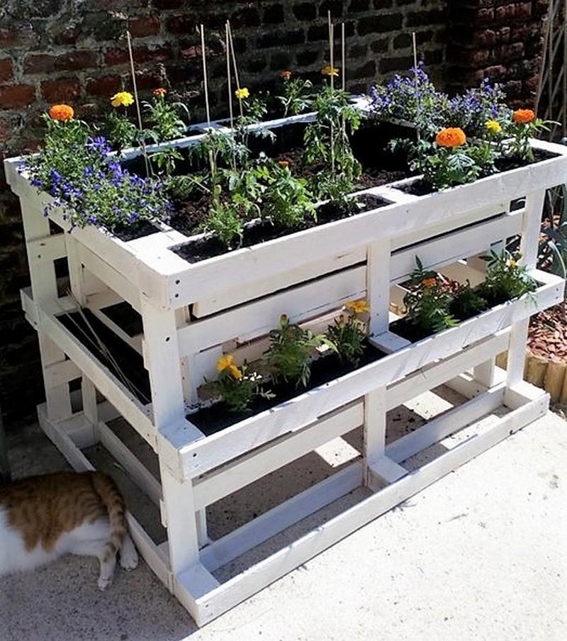 pallet herb planter