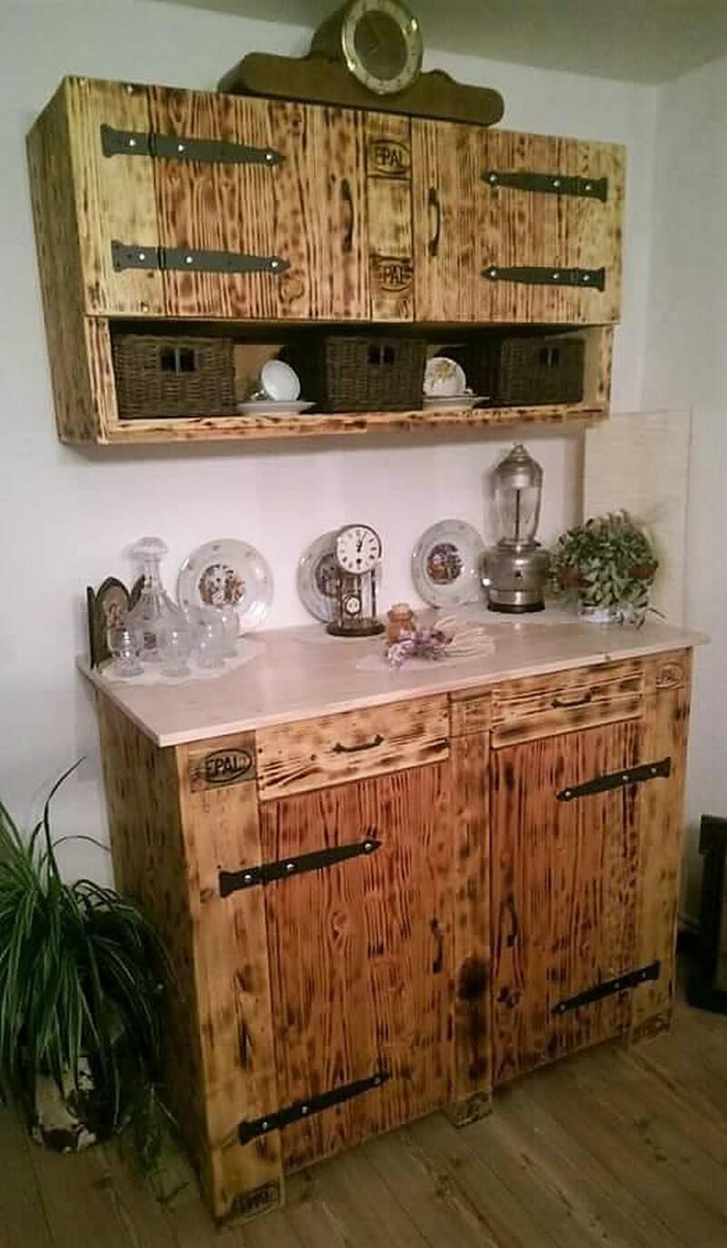 pallet kitchen cupboard