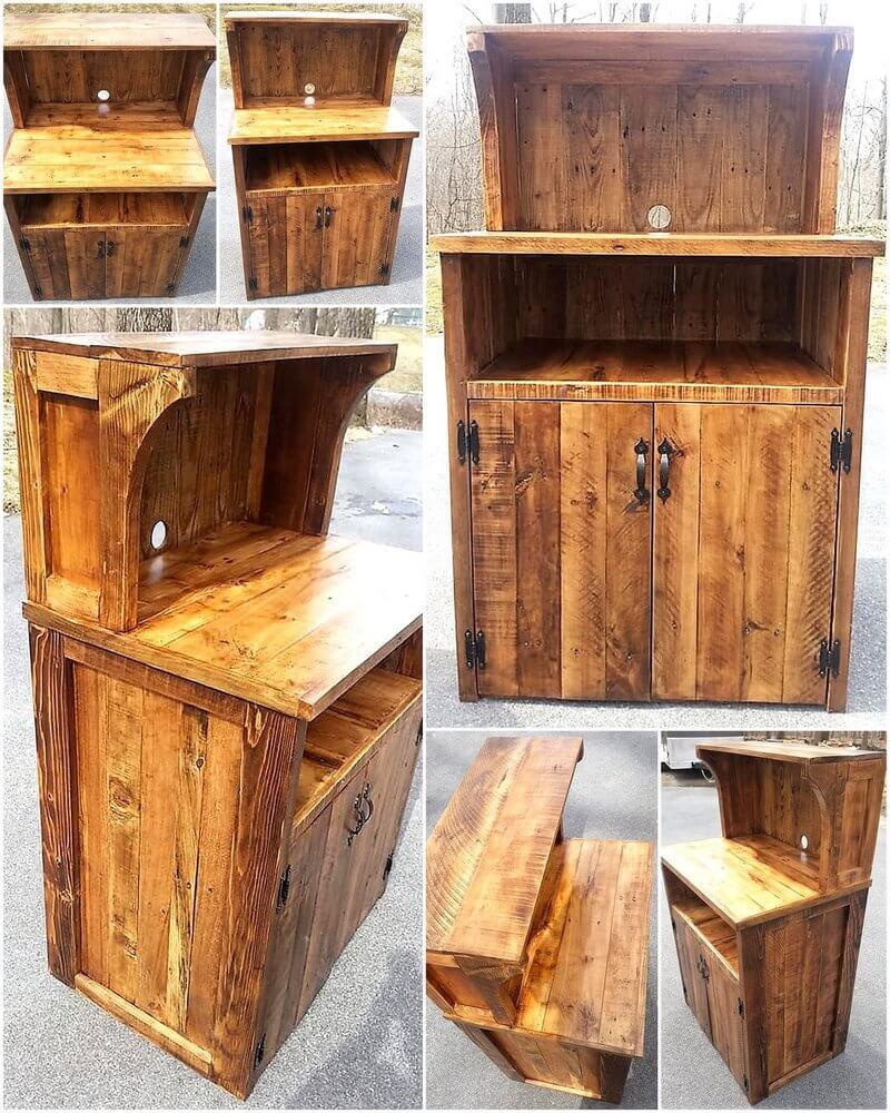 pallet kitchen stand idea