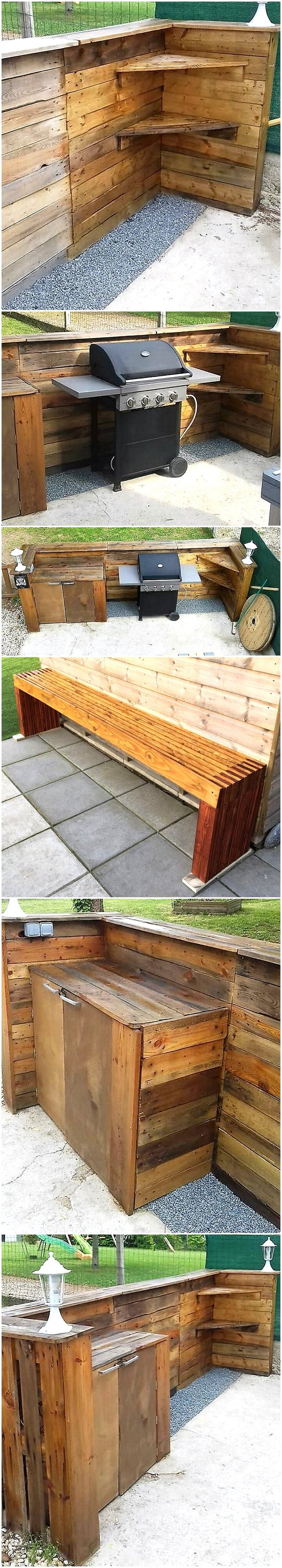pallet outdoor summer kitchen