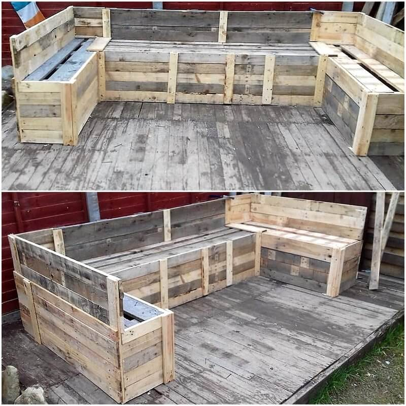 pallet patio deck and couch