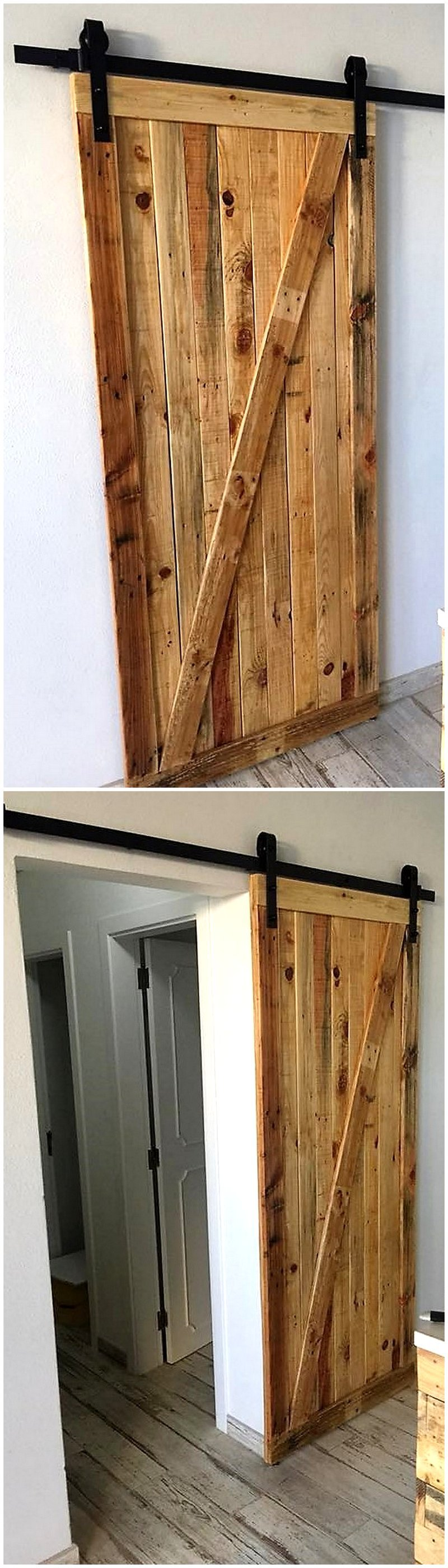 pallet sliding door plan