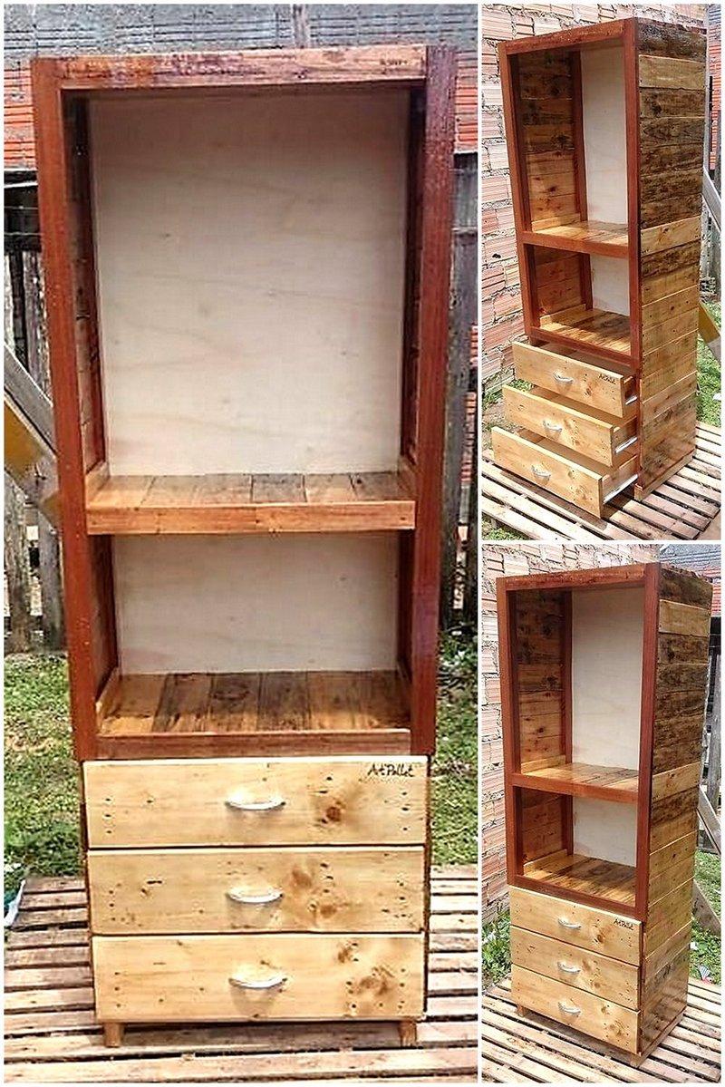 pallets wooden wardrobe plan