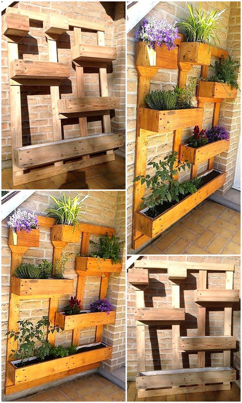 planter out of wooden pallets