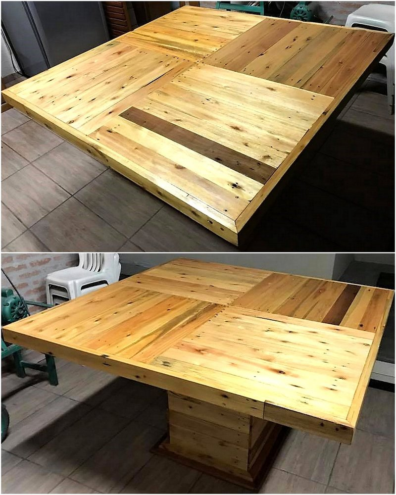 recycled wood pallet giant table