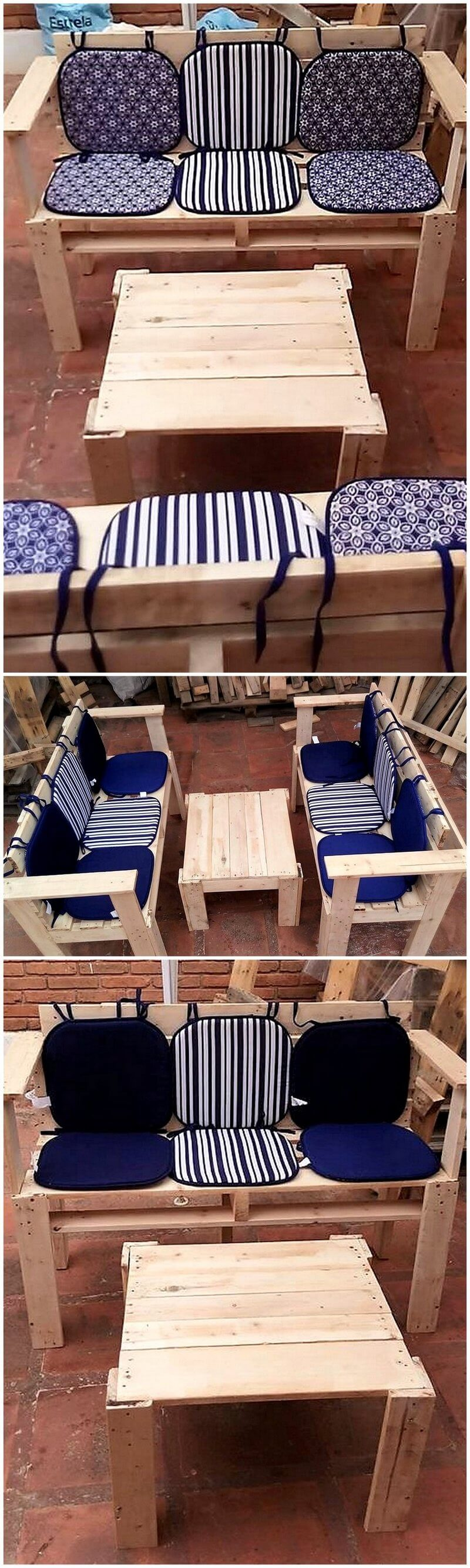 repurposed pallet furniture set