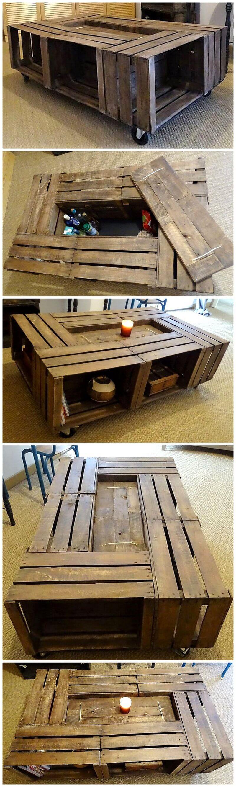 repurposed pallet rustic table
