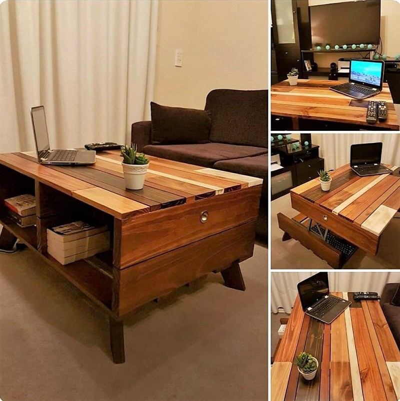 reused pallets wooden table