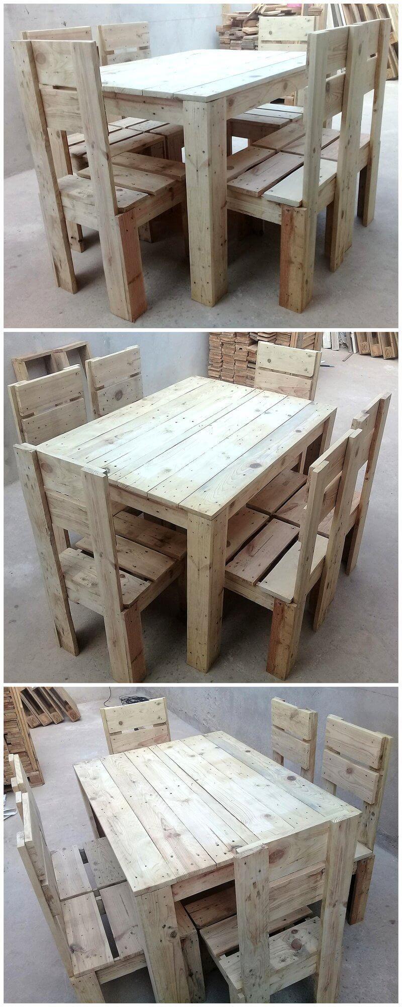 reused wood pallet furniture