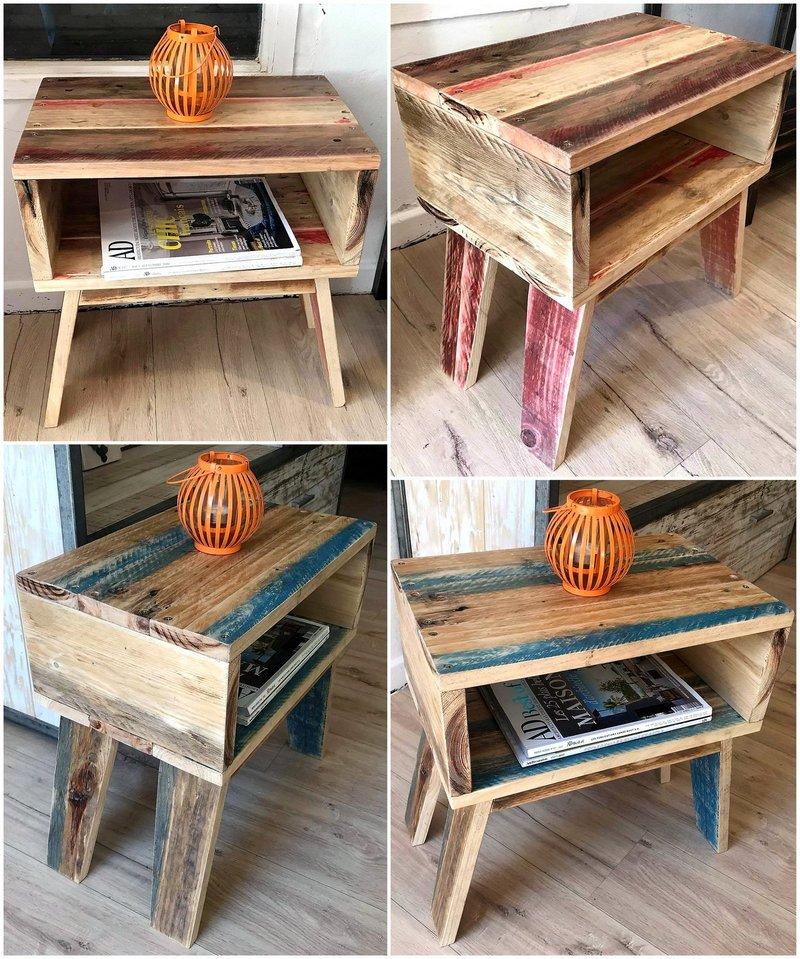 wood pallet bedside tables