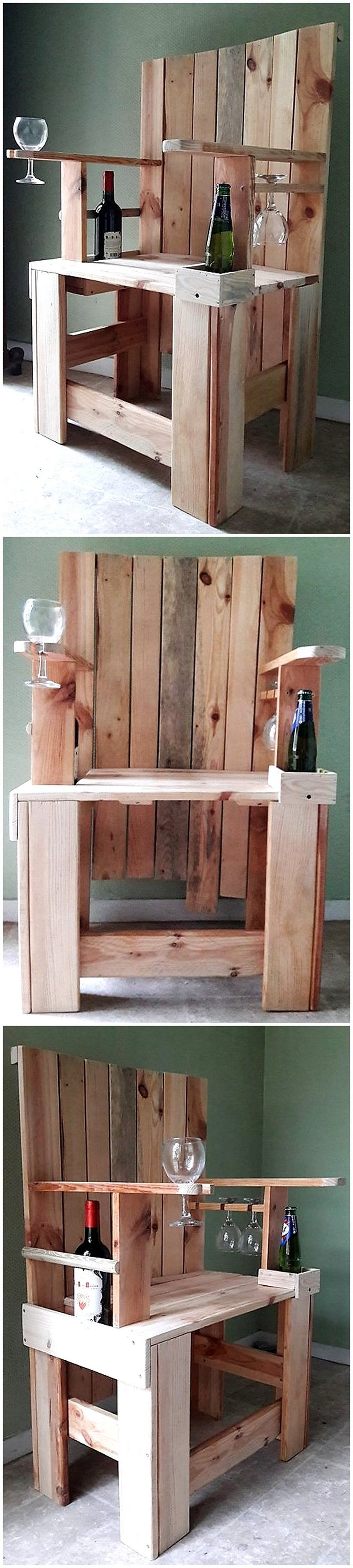 wood pallet chair bar